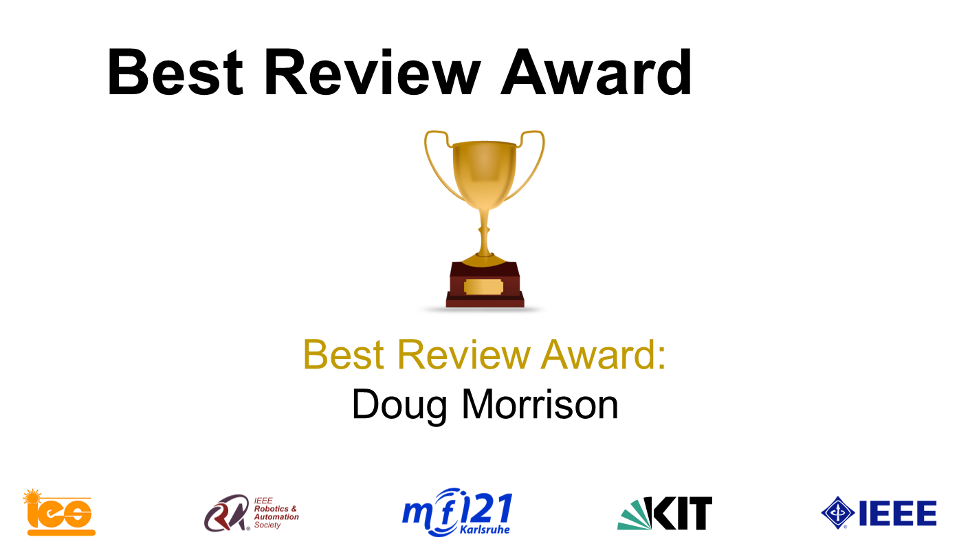 MFI 2021 Best Paper Award